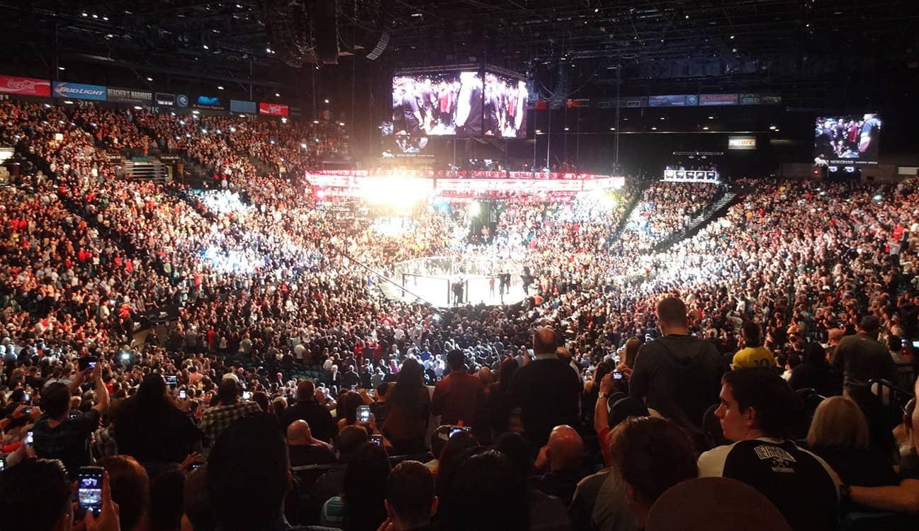 Watching-Silva-Diaz-UFC-Fight-MGM-Grand-Garden-Arena-Las-Vegas