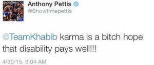 Pettis twitt