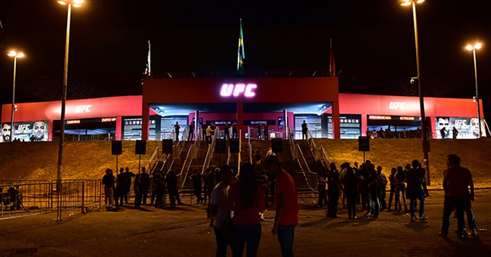 May 30, 2015; Goiania, GO, Brazil; before UFC Fight Night at Goiania Arena. Mandatory Credit: Jason Silva-USA TODAY Sports