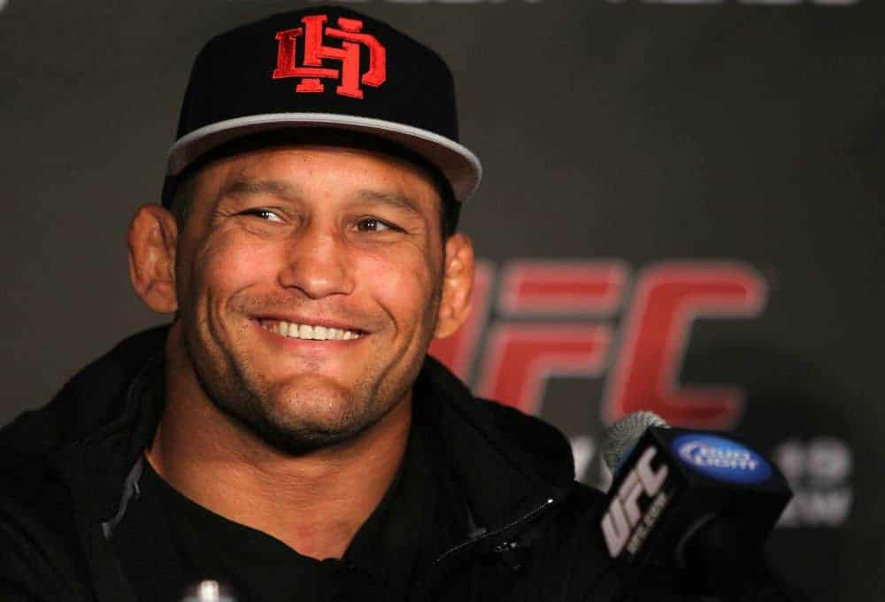 SAN FRANCISCO, CA - NOVEMBER 17: Dan Henderson attends the UFC 139 pre-fight press conference at the Fort Mason Center on November 17, 2011 in San Francisco, California. (Photo by Josh Hedges/Zuffa LLC/Zuffa LLC via Getty Images)