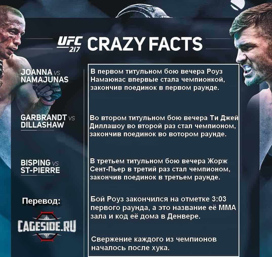 Инфографика UFC 217