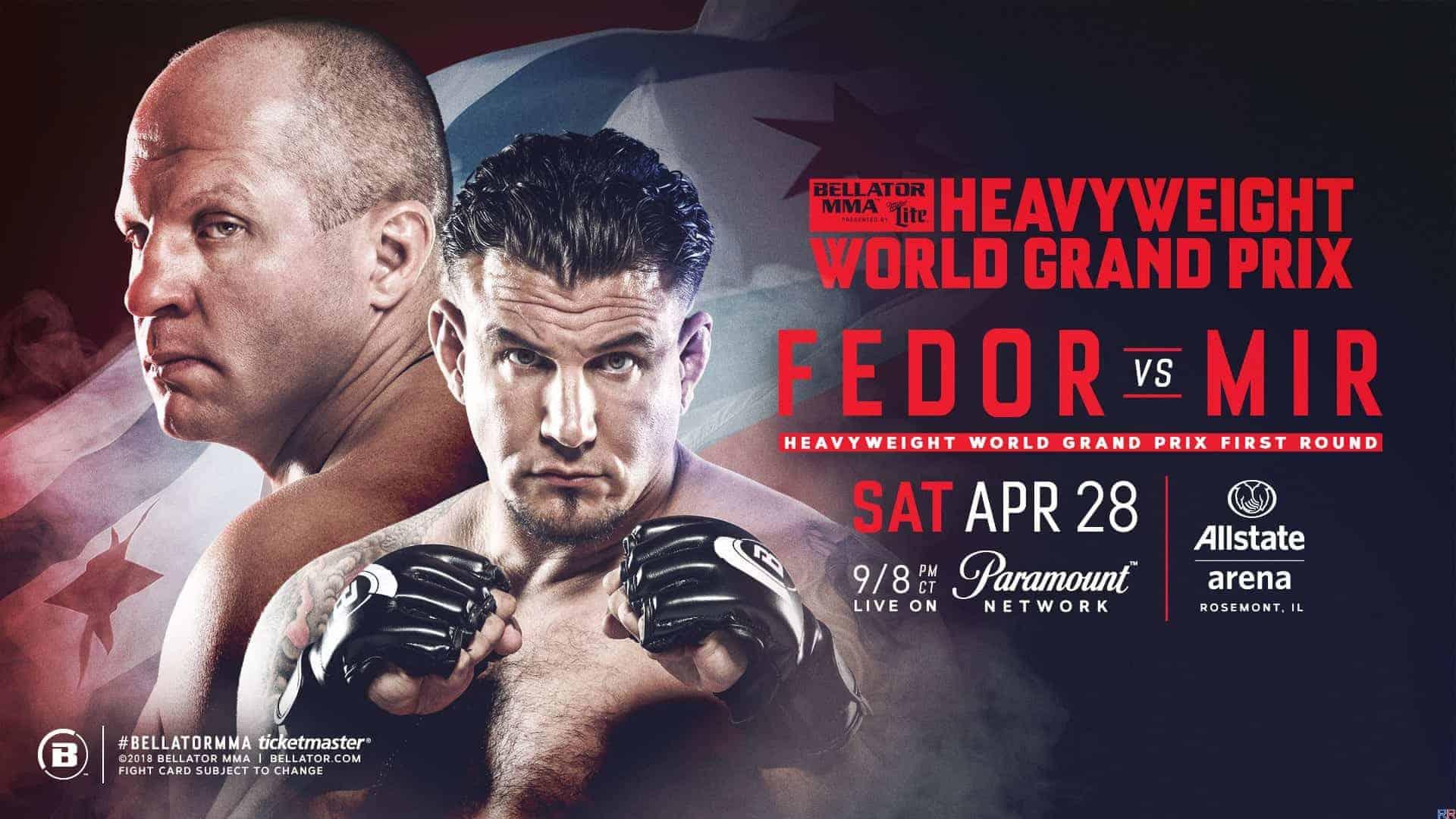 Результат боя Федора и других боев Bellator 198