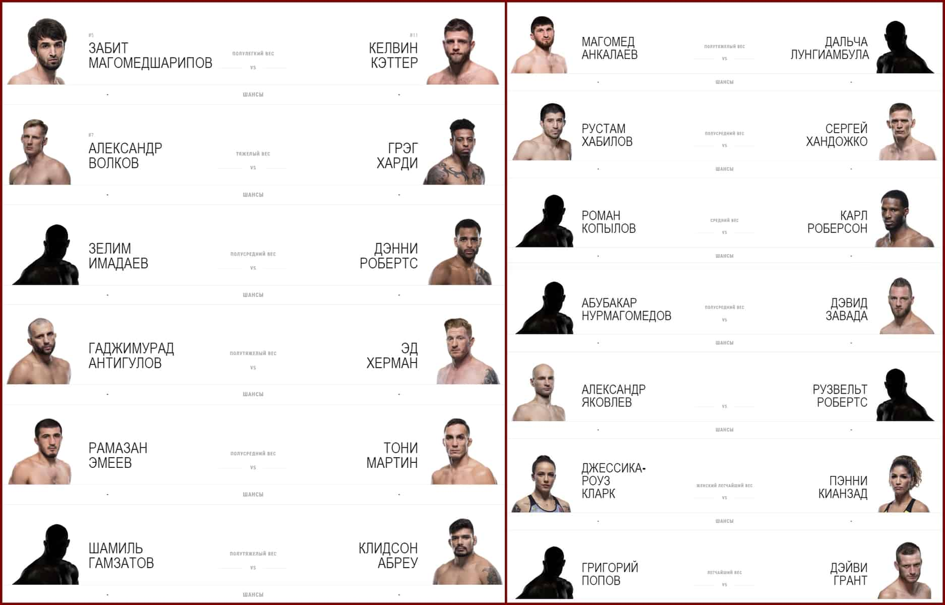 смотреть UFC в Москве